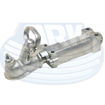 50 mm mechanical over ride coupling hitch galvanised braked braking