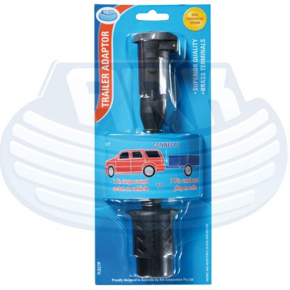 Trailer Adaptor 7 pin small round large car