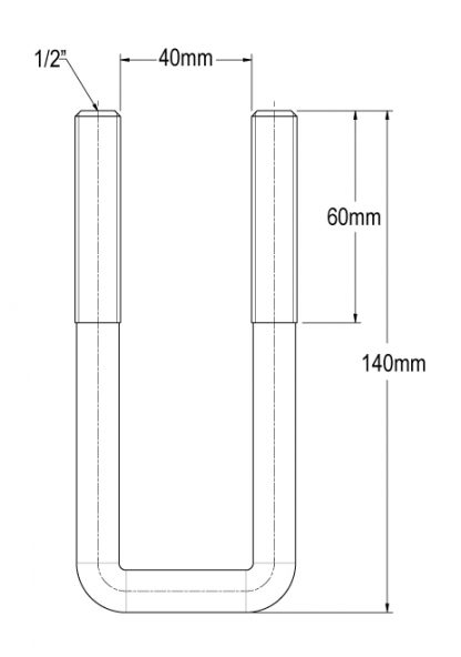 40 mm square axle U bolt suspension diagram