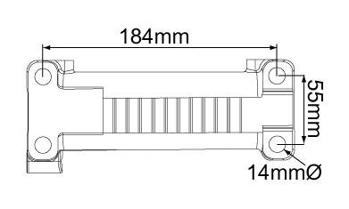 Mechanical braked coupling hitch 2000 kg bolt holes