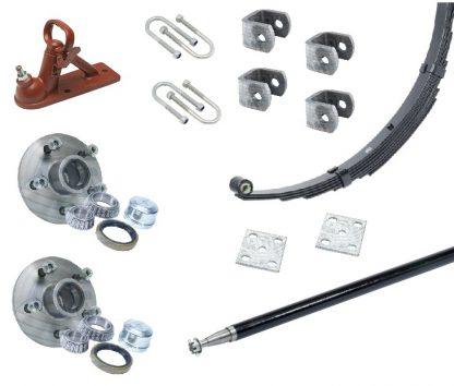 Single Axle Suspension Axle Hub Kit
