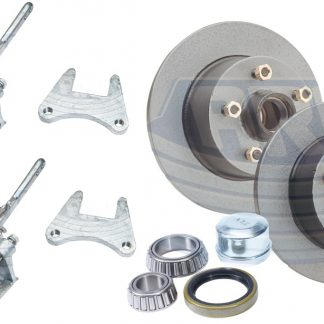 2 tonne Mechanical Brake Kit Holden Ford Land Cruiser Calipers Disc Hubs Loadstar Trailer